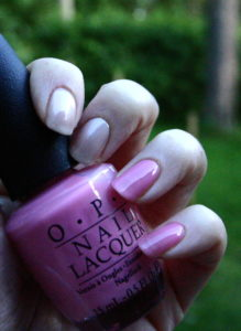china glaze heaven and opi heart throb