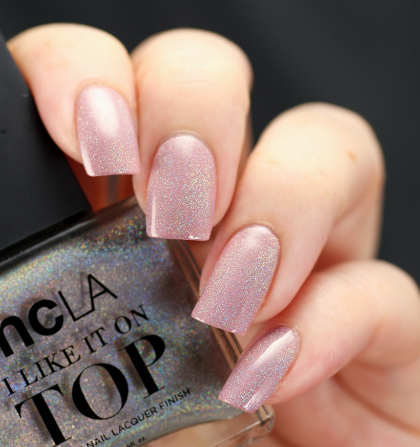 NCLA Shimmer Me Pretty, 1 coat over Volume IV