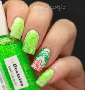 InDecisive Lacquer Speckled Neon Green