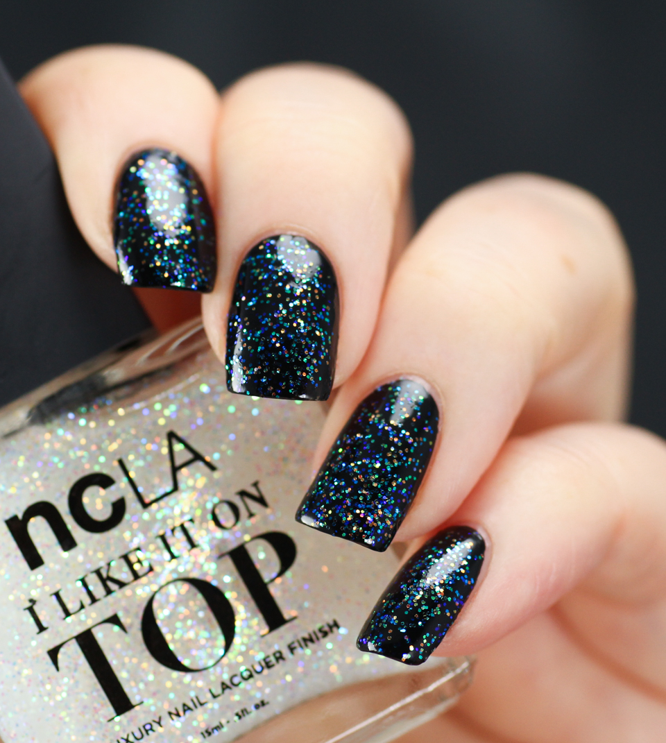 NCLA Party Favorite, 1 coat over black